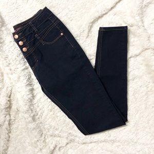Blue Spice High Rise Dark Wash Skinny Jeans